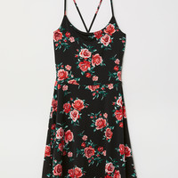 Patterned Dress - Black/roses - Ladies | H&M US
