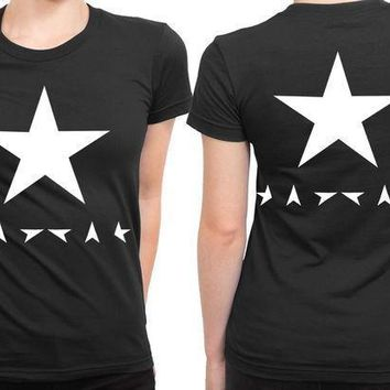 David Bowie Blackstar 2 Sided Womens T Shirt