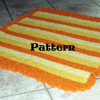 Instant download, pattern, crochet, blanket, baby, newborn, stripes, orange, sunrise, dream, bed