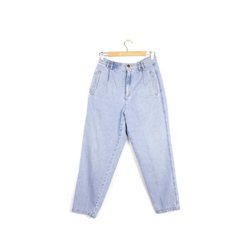 """90s mom jeans - vintage 1990s - 80s liz wear - high waisted jeans - high rise waist - baggy - tapered - womens size 28"""" - 29"""" waist"""