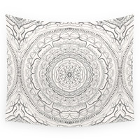 Society6 Black & White Lace Wall Tapestry