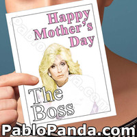 Funny Mothers Day | Who'S The Boss | Gretchen Wieners Angela Bower Mothers Day Cards Mom Love Cards For Wife Mothers Day Gift For Mother