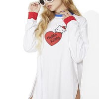 Hello Kitty Long Sleeve Split T-Shirt