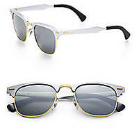 Ray-Ban - Clubmaster Mirrored Lens Sunglasses <br> - Saks Fifth Avenue Mobile