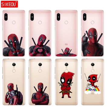 Deadpool Dead pool Taco Silicone Cover phone Case for Xiaomi redmi S2 Y2 6 5 2 3 3s pro PLUS redmi note 4 4X 4A 5A 6A soft tpu Super Marvel  AT_70_6