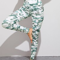 Camo Print High Waist Skinny Leggings