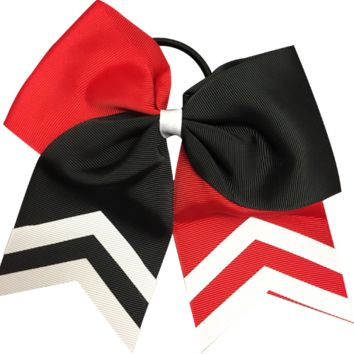 Cheer Hair Bow- Red & Black