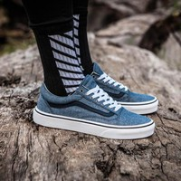 Vans Old Skool Blue Low Tops Flats Shoes Canvas Sneakers Sport Shoes