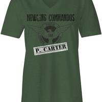 Agent Carter Inspired Howling Commando's Women's Swoop Neck Tee