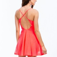 Net Case Sports Mesh Skater Dress - GoJane.com