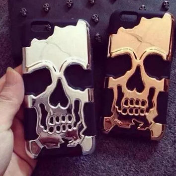 Punk skeleton phone case (Removable) for iphone 5 5s SE 6 6s 6 plus 6s plus + Nice gift box 072702