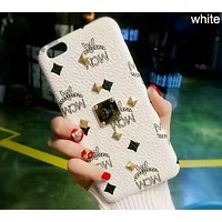 MCM Fashion Trend for iPhone 6/7/8/X Phone Case Cover F-OF-SJK White