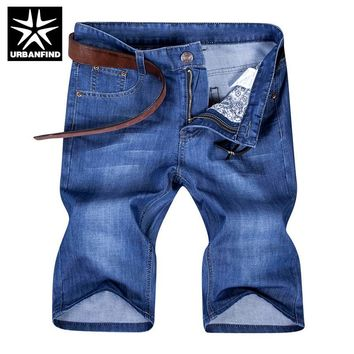 2016 New Men Summer Broadshorts Casual Denim Shorts Size 29-42 Straight Model Young Man Brand Short Jeans Knee Length