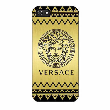 versace chevron gold edition cases for iphone se 5 5s 5c 4 4s 6 6s plus