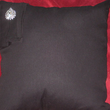 Two Black Brooch Pillow (Free Shipping)