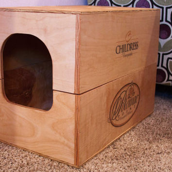 Wine Crate Litter Box (Custom Sizes)