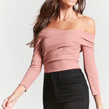 Ribbed Crisscross Crop Top - Women - 2000158569 - Forever 21 Canada English