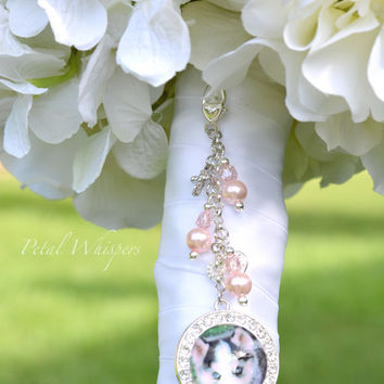Wedding Bouquet Photo Charm - Bridal Bouquet Photo Charm - Bouquet Memory Charm - Bridal Gift - Bouquet Picture Charm - Bridal Photo Pendant