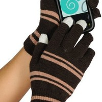 Womens Magic texting glove with conductive yarn finger tips for iPhone, iPad and all touch screen d