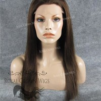 18 Inch Full Lace Human Hair Wig with Straight Texture in #4 Medium Brown