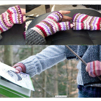 New Hermione Fingerless Camping Gloves from Harry Potter Deathly Hallows Pattern