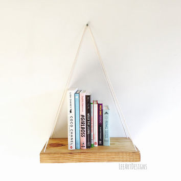 Handmade Hanging Shelf, Rustic, Beach, Decor, Reclaimed Wood, Home Decor, Repurposed, Furniture, Book Shelf, Floating Shelf, Wall Shelf