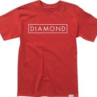 Diamond Future Tee Small Cardinal/White