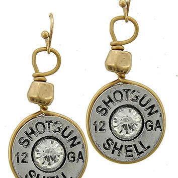 Shotgun Shell Dangle Earrings