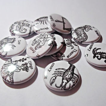 Astrological Sign Buttons // Vintage Zodiac Buttons