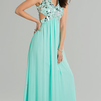 Sleeveless V-Neck Floor Length Dress