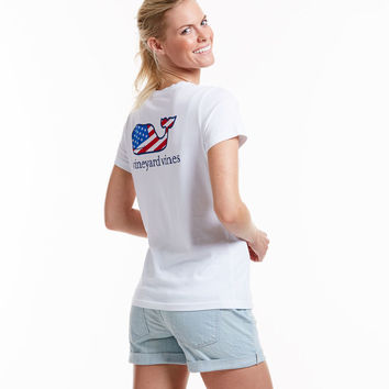Short-Sleeve Patriot Whale Pocket Tee