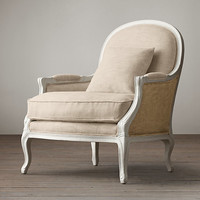 Lyon Chair White With Burlap