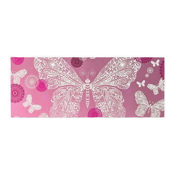"Monika Strigel ""Butterfly Dreams Pink Ombre"" Magenta Bed Runner"