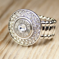 Fire & Ice 40 Caliber Bullet Ring Winchester