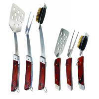 3-Pc Folding Pakkawood Tool Set, Cooking Prep Tools