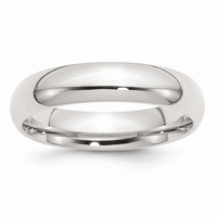 Sterling Silver 5mm Comfort Fit Wedding Band Ring: RingSize: 9