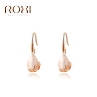 ROXI Christmas Gift New Fashion Jewelry Rose Gold Plated Statement Elegant Opal Drop Earrings Women Party Wedding Free Shipping
