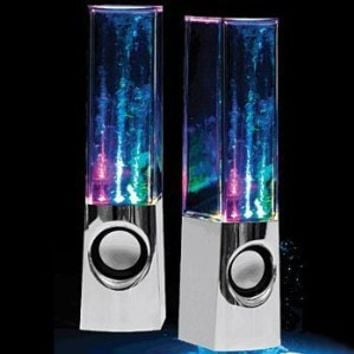 LED Concepts Illuminated Dancing Water Speakers, Black