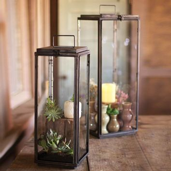 Tall Rectangle Lanterns (Set of 2)