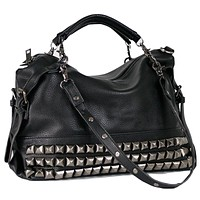 HARLOW Studded Shoulder Bag