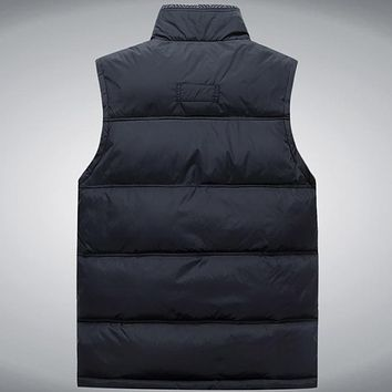 Men's Vest Jacket Coat Sleeveless Vests Winter Casual Warm Jacket Vest Men Waistcoat