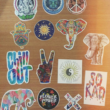HIPPIE\ TUMBLR\ INDIE \ boho \ Ethnic colorful stickers