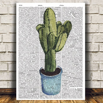 House plant poster Watercolor print Plant print Flower decor RTA1576