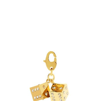 Kate Spade Dice Charm Clear/Gold ONE