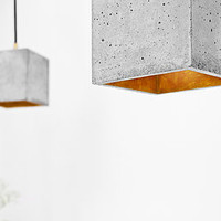 Concrete Pendant Light Handcrafted Lamp B1