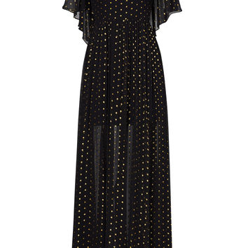 Rebecca Minkoff Gold Dot Ethereal Gown