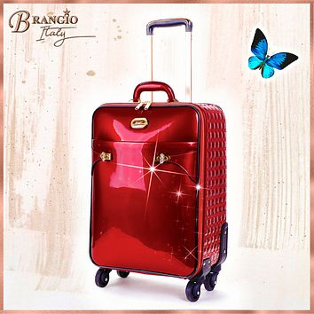 Tri-Star Durable Flexible Carry on Luggage with Spinning Wheels Suitcase