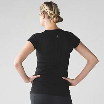 DCCKNQ2 Lululemon Women Sport Yoga Stretch Tunic Shirt Top Blouse-9