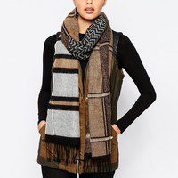 River Island Spliced Skinny Scarf