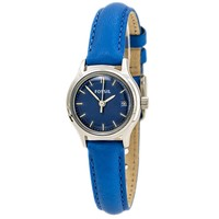 Fossil ES3273 Women's Archival Mini Blue Dial Blue Leather Strap Watch